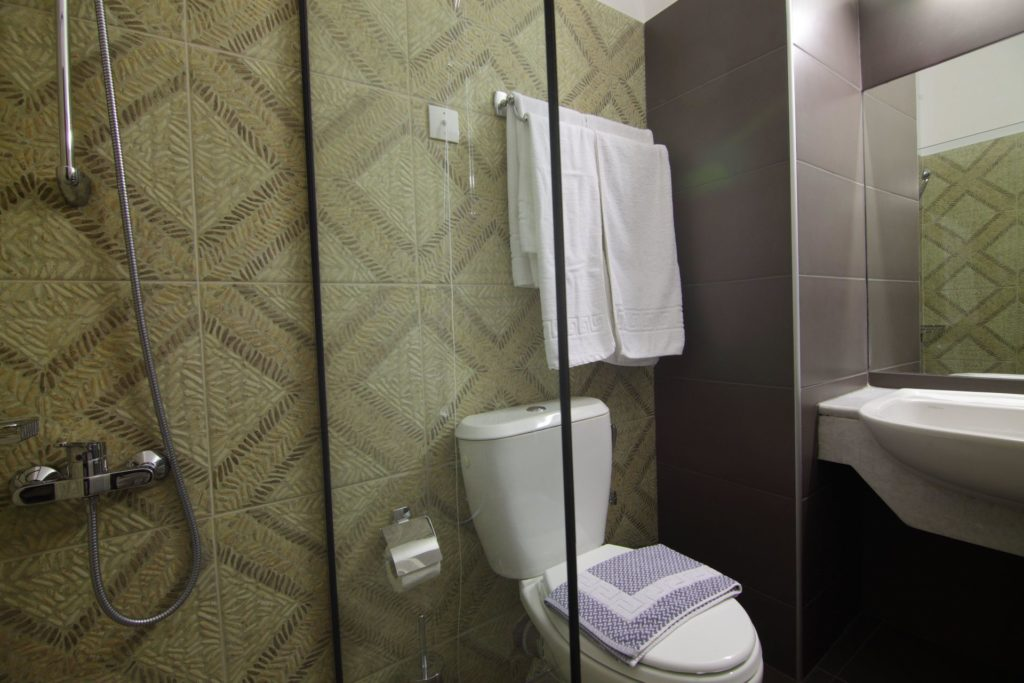 Bathroom Standard Rooms 1 Arkadi Hotel Chania city center Crete