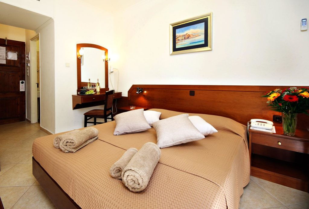 Double Room Bed Arkadi Hotel Chania city center Crete