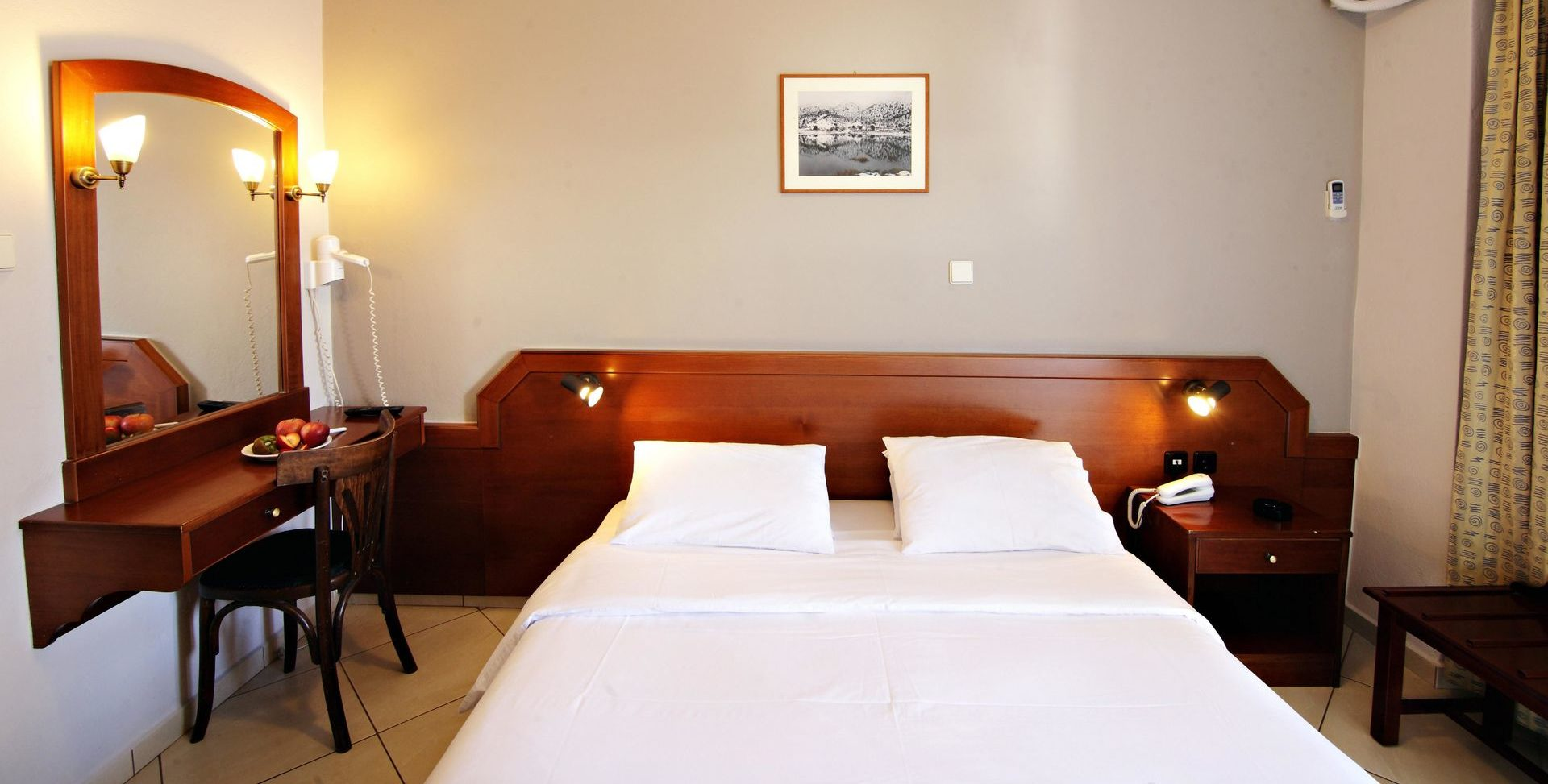 Economy Double Room Bed Arkadi Hotel Chania city center Crete