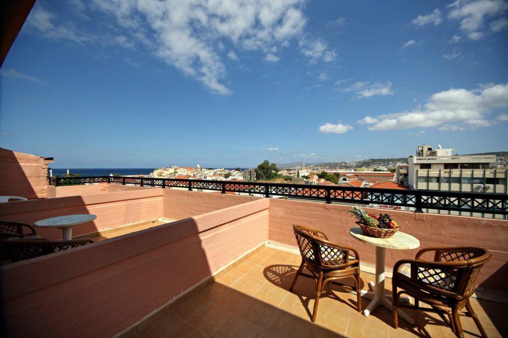 Room Balcony City View Arkadi Hotel Chania city center Crete